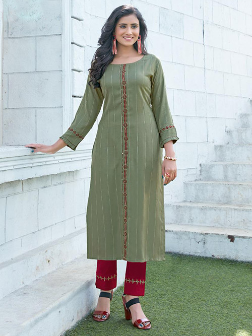 DESIGNER INDIAN KURTI BT-K-R-95266-3004-2XL