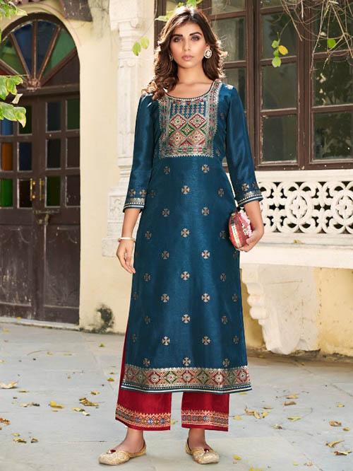 DESIGNER INDIAN KURTI BT-K-R-95631-12418-XL