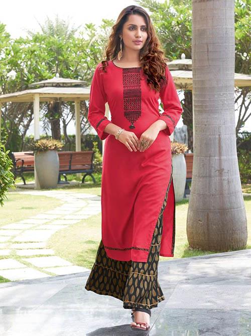 DESIGNER INDIAN KURTI BT-K-R-35162-7006-XL