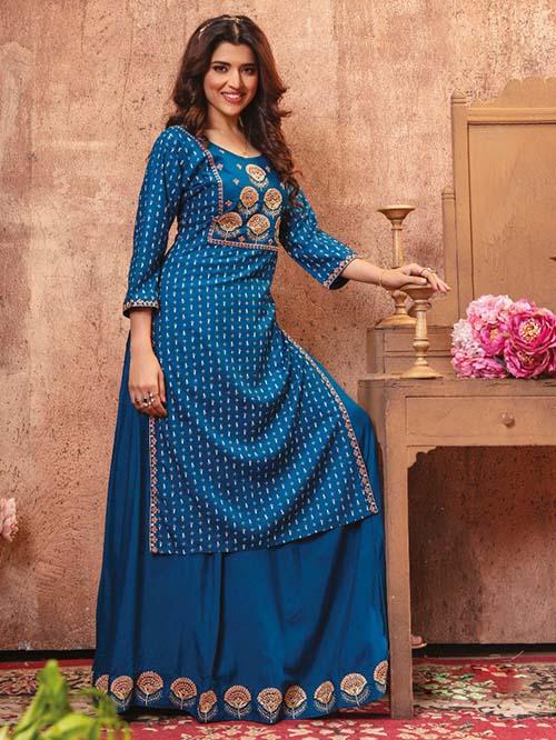 DESIGNER INDIAN KURTI BT-K-R-35234-5-L