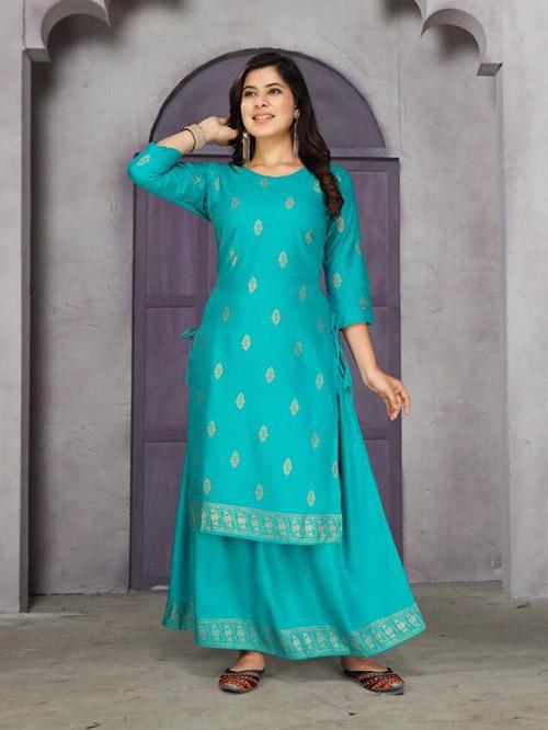 DESIGNER INDIAN KURTI BT-K-R-35562-7269-L
