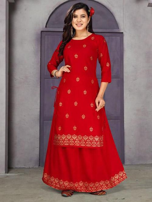 DESIGNER INDIAN KURTI BT-K-R-35562-7272-L