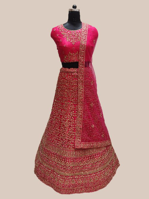 CELEBRITY INDIAN LEHENGA CHOLI BT-LH-R-71109-5474-B-2XL