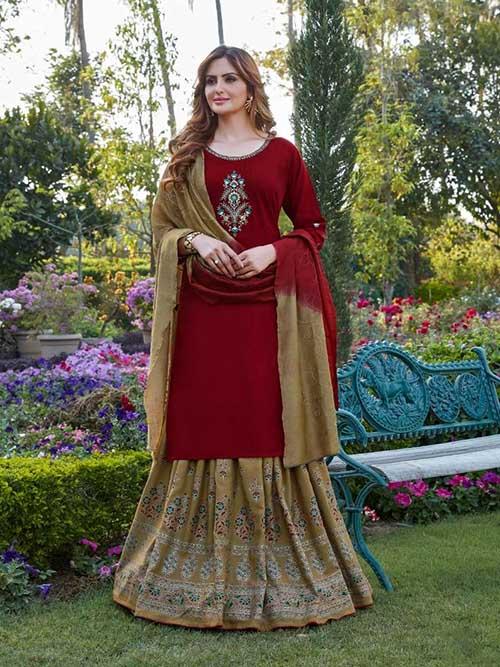 DESIGNER INDIAN SALWAR KAMEEZ BT-SK-R-96664-1001-XL