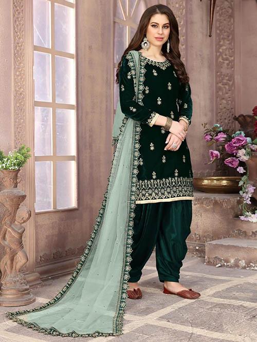 DESIGNER INDIAN SALWAR KAMEEZ BT-SK-R-35199-1802-L