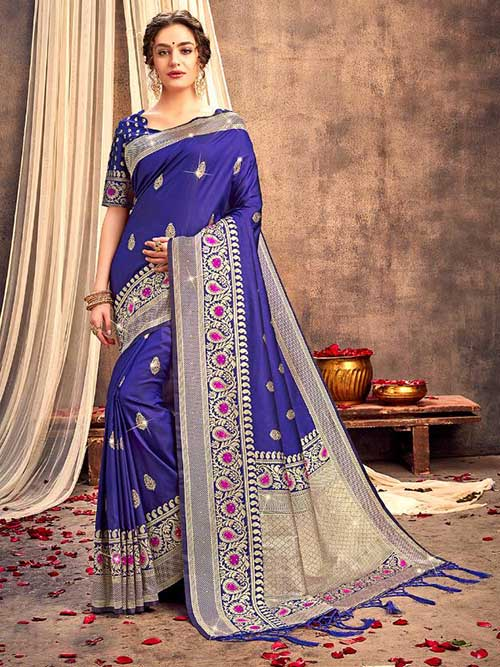DESIGNER INDIAN SILK SAREE BT-SR-92509-1045