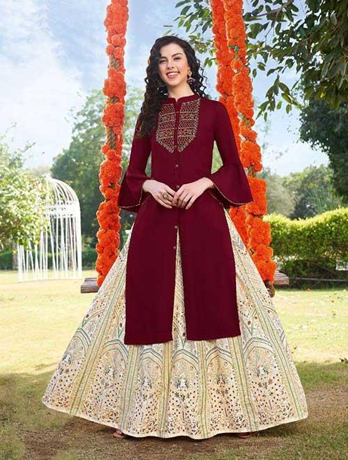 DESIGNER INDIAN KURTI - BT-K-R-90101-XXL