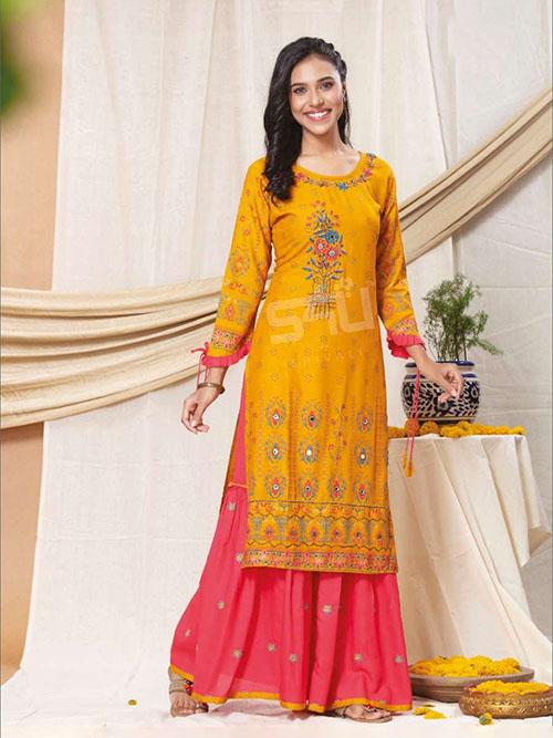 DESIGNER INDIAN KURTI - BT-K-R-90306-2XL
