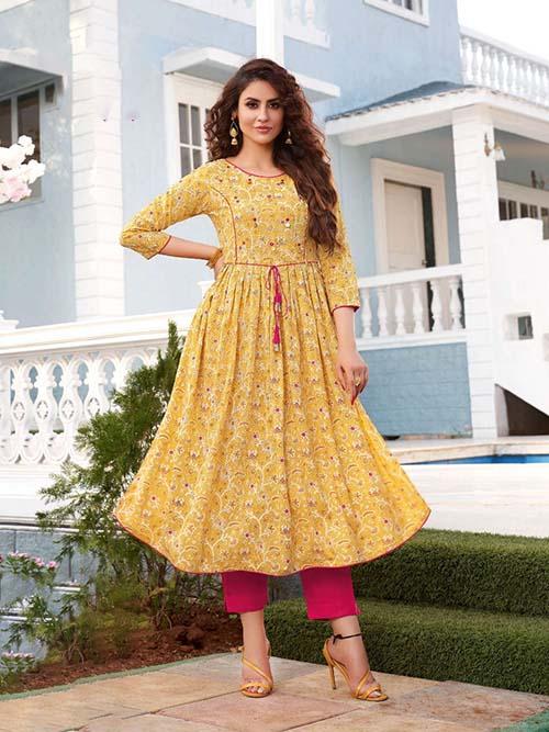DESIGNER INDIAN KURTI - BT-K-R-90313-M