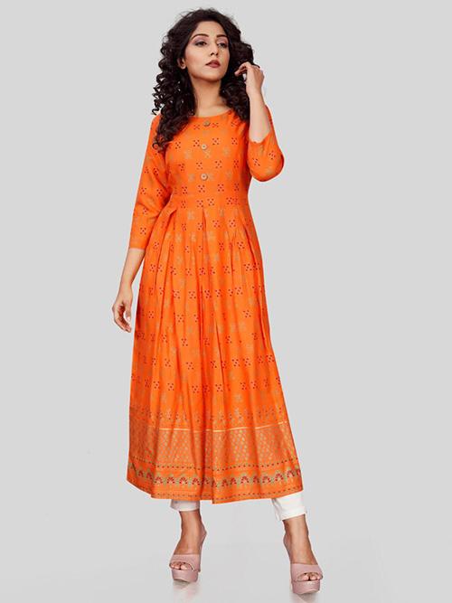 DESIGNER INDIAN KURTI - BT-K-R-90322-E-M