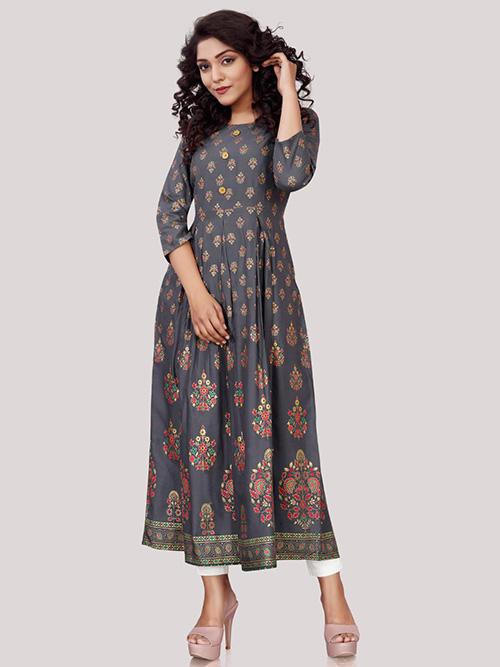 DESIGNER INDIAN KURTI - BT-K-R-90322-F-M