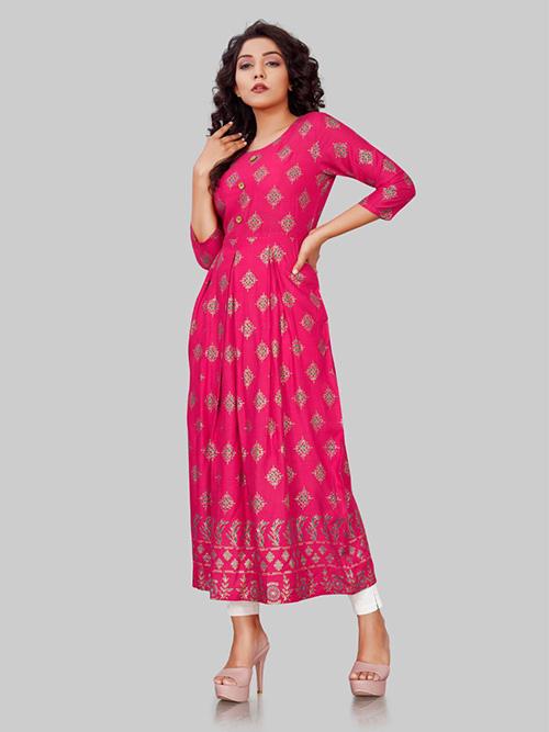 DESIGNER INDIAN KURTI - BT-K-R-90322-H-M