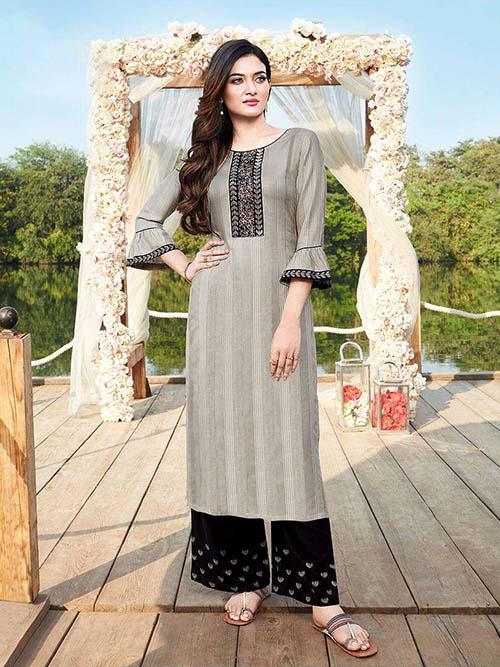 DESIGNER INDIAN KURTI - BT-K-R-90339-L
