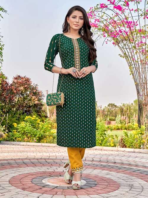 DESIGNER INDIAN KURTI - BT-K-R-90351-L