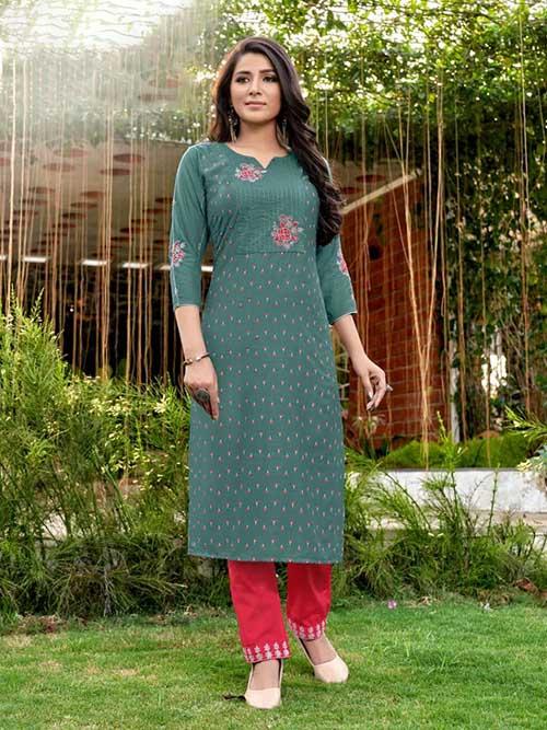 DESIGNER INDIAN KURTI - BT-K-R-90352-L