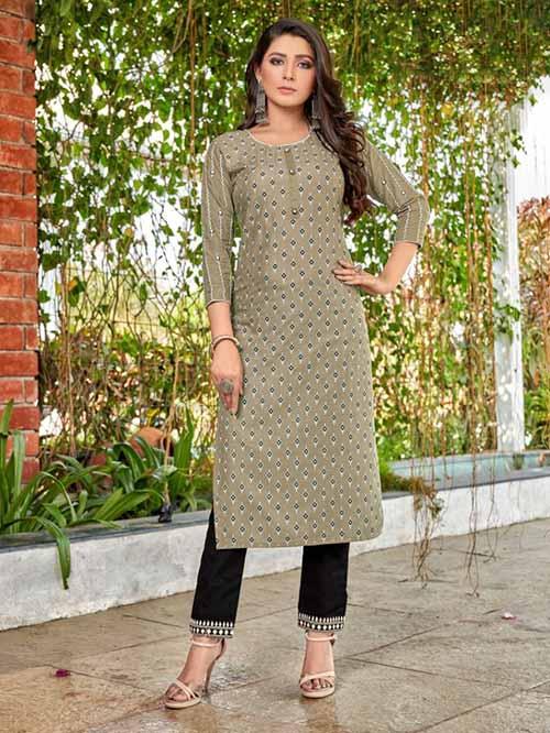 DESIGNER INDIAN KURTI - BT-K-R-90355-L