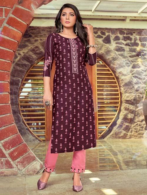 DESIGNER INDIAN KURTI - BT-K-R-90356-L