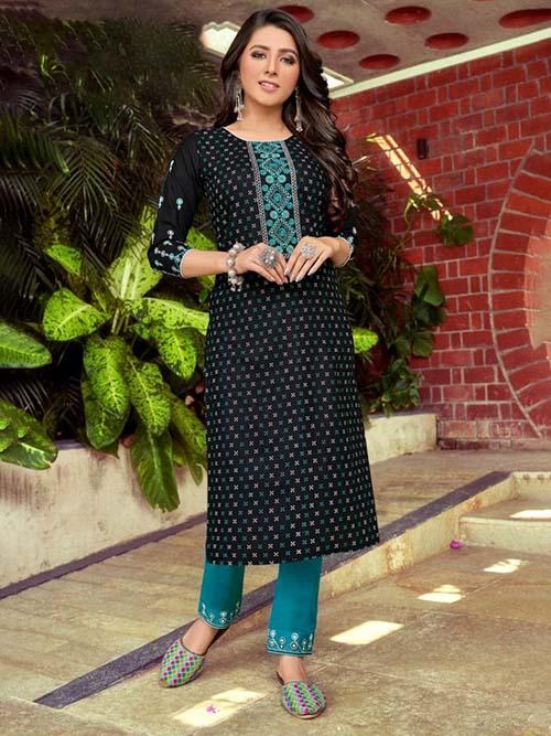 DESIGNER INDIAN KURTI - BT-K-R-90358-L