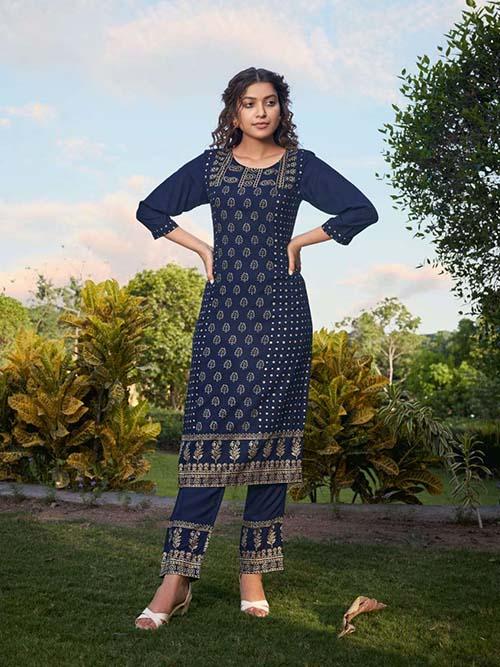 DESIGNER INDIAN KURTI - BT-K-R-90375-XXL