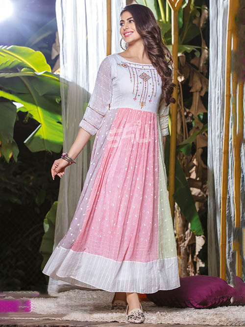 DESIGNER INDIAN KURTI - BT-K-R-90383-L