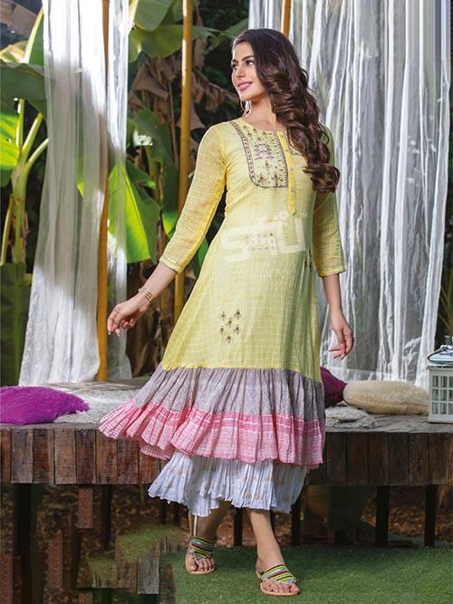 DESIGNER INDIAN KURTI - BT-K-R-90385-L