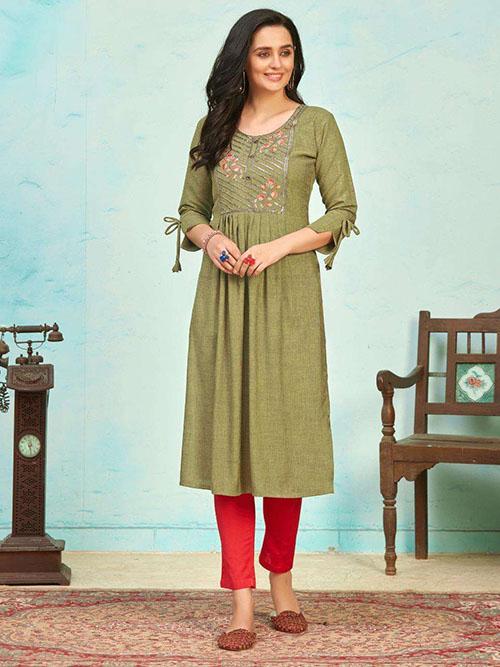 DESIGNER INDIAN KURTI - BT-K-R-90391-2XL