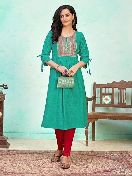 DESIGNER INDIAN KURTI - BT-K-R-90392-2XL