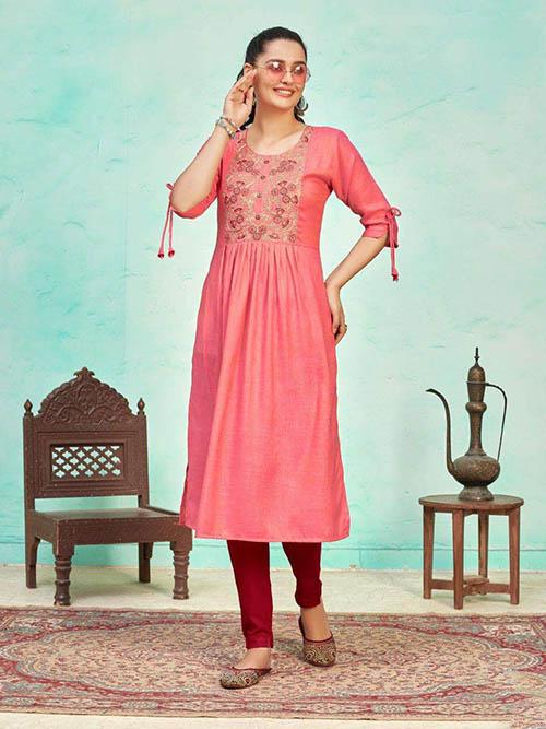 DESIGNER INDIAN KURTI - BT-K-R-90394-2XL