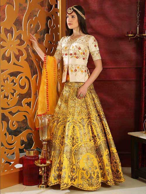 BEAUTIFUL INDIAN LEHENGA CHOLI - BT-LH-R-10209-XL