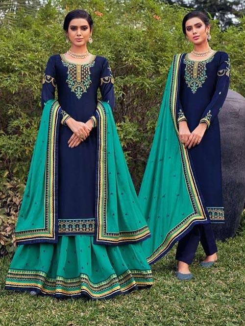 DESIGNER INDIAN SALWAR KAMEEZ - BT-SK-R-30902-3XL