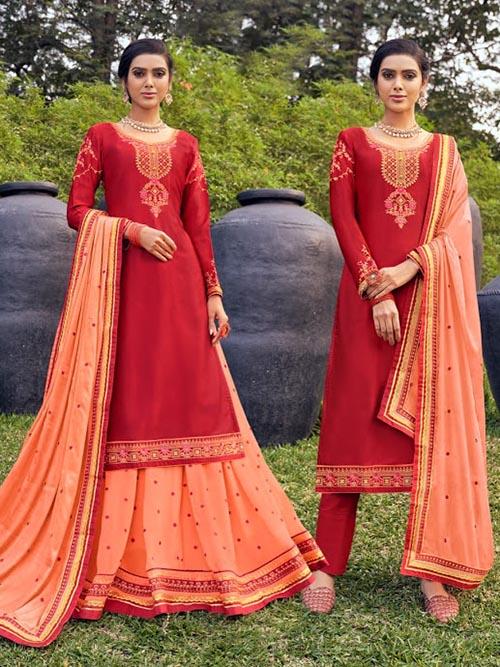 DESIGNER INDIAN SALWAR KAMEEZ - BT-SK-R-30903-3XL